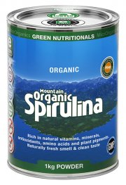 Green Nutritionals Mountain Organic Spirulina Powder 1kg